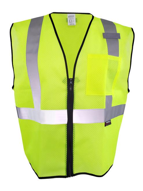 Fierce Safety EC150G Class 2 Economy Green Reflective Vest
