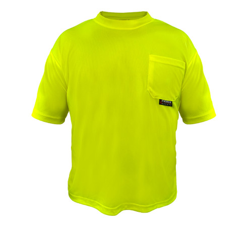 Fierce Safety Short Sleeve Green Shirt with Moisture Wicking Technology