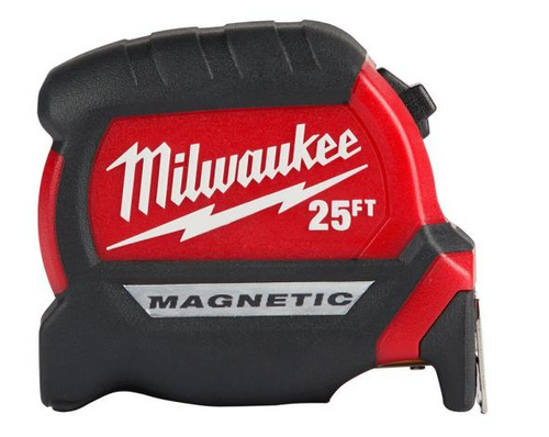 Milwaukee 48-22-0325G 25ft Compact Wide Blade Magnetic Tape Measure