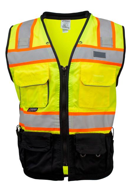Fierce Safety SU500 Premium Surveyors Class 2 Heavy Duty Vest Tablet Pockets and Neck Padding