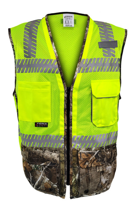 Fierce Safety Surveyors Class 2 Camouflage Meshed Vest