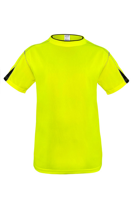 Fierce Safety Performance High Vis Safety Shirt with Moisture Wicking and Black Trim