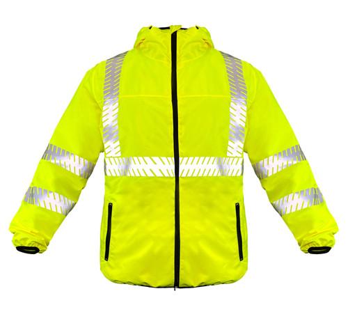 Fierce Safety Premium Lightweight Class 3 Rain Jacket with Ripstop
