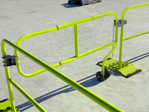 Frontline Guardrail 5.5' - 7' Adjustable Rolling Swing Gate