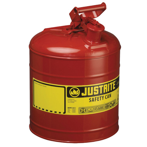 Justrite 7150100 Steel Safety Can for Flammables 5 Gal