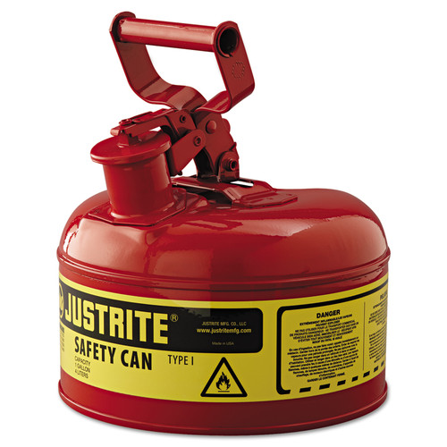 Justrite 7110100 Steel safety Can for Flammables 1 Gal