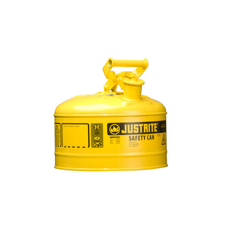 Justrite 7125200 Steel Safety Can for Diesel 2.5 Gal