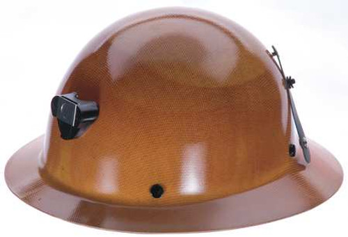 MSA 460389 Skullgard Full Brim Hard Hat with Lamp Bracket
