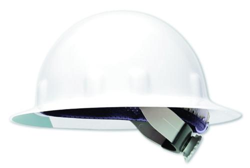 Fibre-Metal E1RW01A000 White FullBrim Hard Hat with Ratchet Suspension