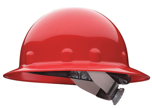 Fibre-Metal E1RW15A000 Red Full Brim Hard Hat with Ratchet Suspension