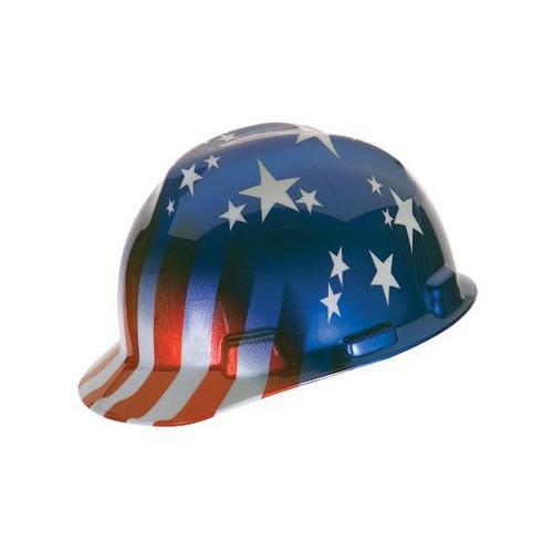MSA 10052945 V-Gard Patriot's Hard Hat (Cap Style)