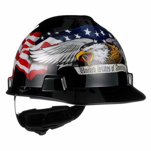 MSA 10079479 V-Gard American Eagle Hard Hat (Cap Style)