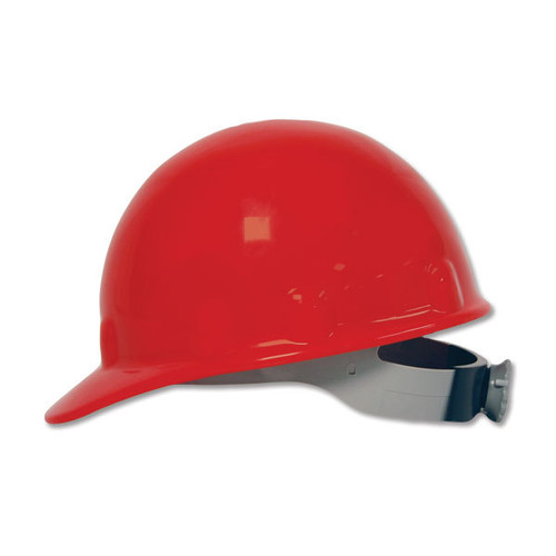 Fibre-Metal E2RW15A000 Red Cap Style Hard Hat with Ratchet Suspension