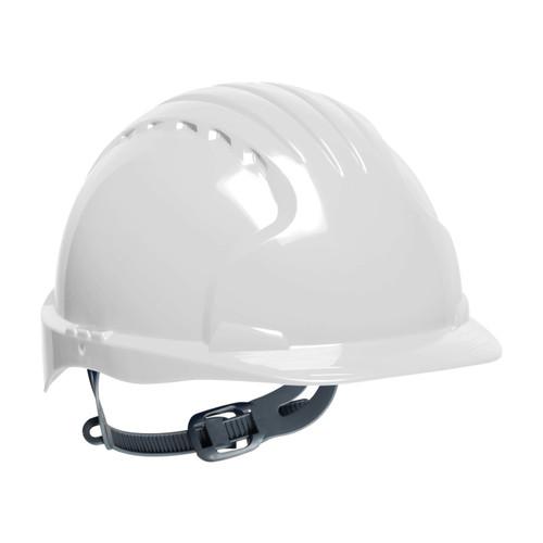 PIP EV6121-10 White Hard Hat - 6-Point Polyethylene Ratchet Suspension