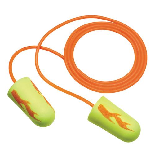 3M 311-1252 E-A-R Soft Yellow Neon Blast Corded Earplugs (200 Pr/Box)