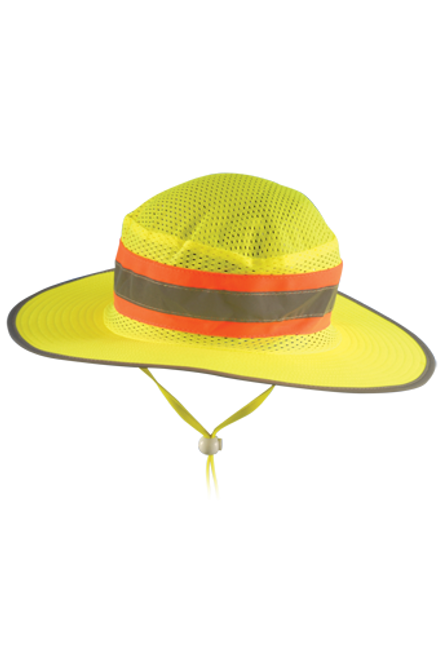 OccuNomix LUX-RNG-Y Yellow High Visibility Ranger Hat
