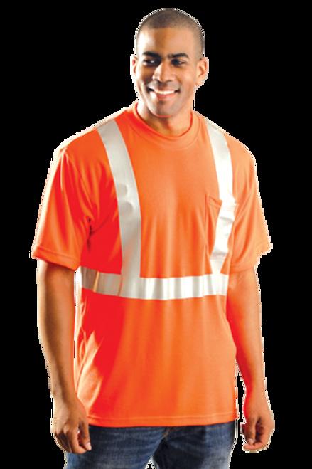 OccuNomix LUX-SSTP2 Hi-Vis Class 2 Pocketed Orange T-Shirt