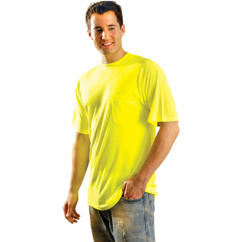 OccuNomix LUX-SSTPY Fluorescent Pocketed Yellow T-Shirt