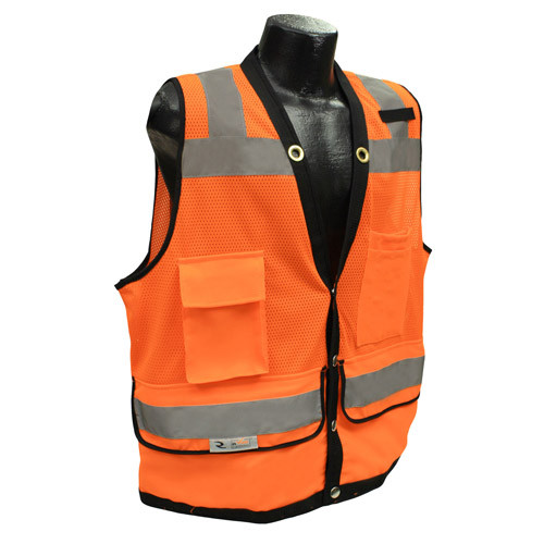 Radians SV59-2ZOD Orange Surveyor Vest with Tablet Pockets