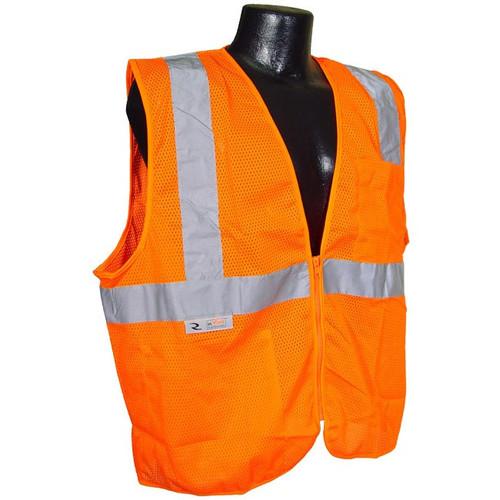 Radians SV2ZOM HiVis Class 2 Orange Safety Vest with Zipper