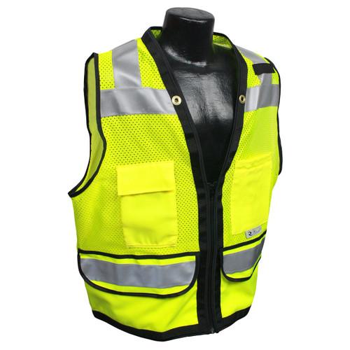Radians SV59Z-2ZGD Green Surveyors Vest with Zipper Closure