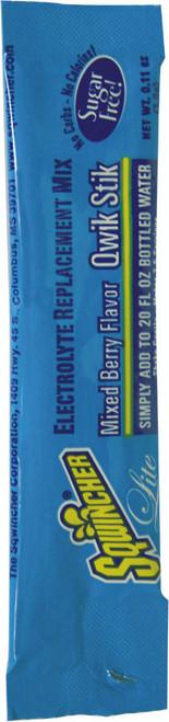 Sqwincher 060101-MB Mixed Berry Lite Quik Stik Mix (50/Bag)