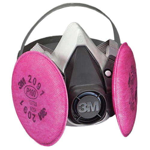 3M Half Facepiece Reusable Respirator Assembly with P100 Filters