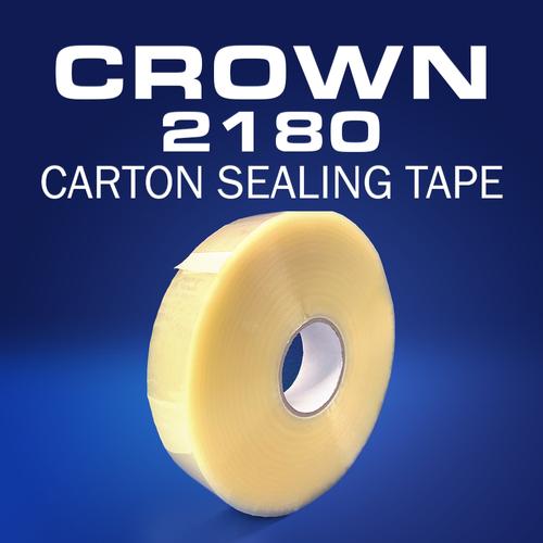 Crown 2180   1.8mil Hot Melt Carton Sealing Tape   Machine Length