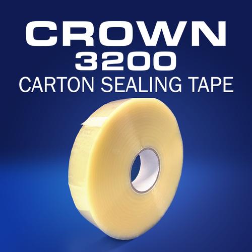Crown 3200   2mil Acrylic Carton Sealing Tape   Machine Length