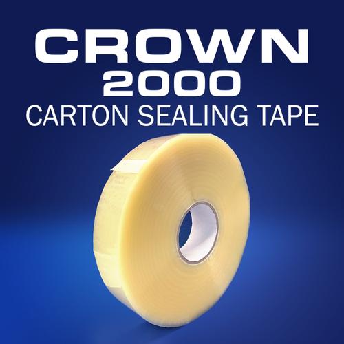 Crown 2000 | 1.6mil Hot Melt Carton Sealing Tape | Machine Length