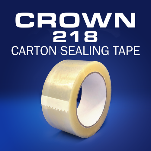 Crown 218 | 1.8mil Hot Melt Carton Sealing Tape | Hand Length