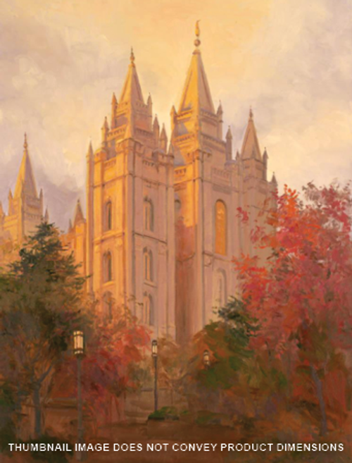 Salt Lake Temple in Autumn