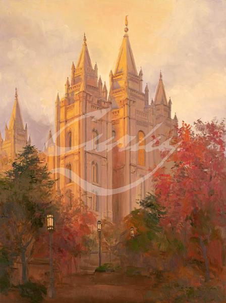 Linda Curley Christensen Salt Lake Temple in Autumn