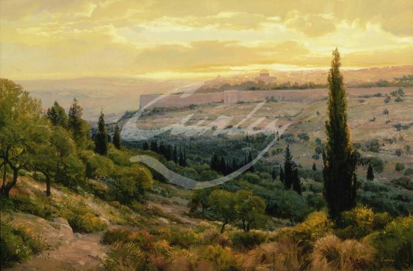 Linda Curley Christensen Jerusalem Sunset