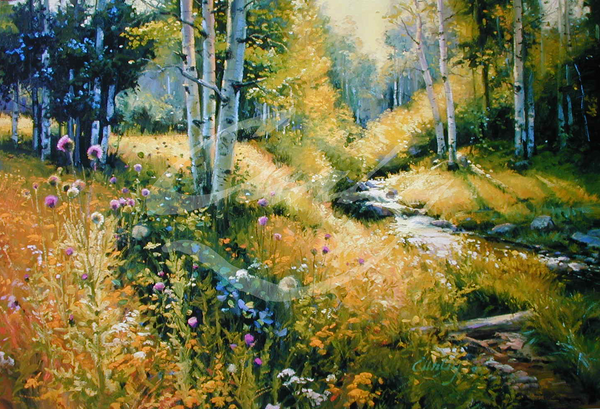 Linda Curley Christensen Thistle Flowers
