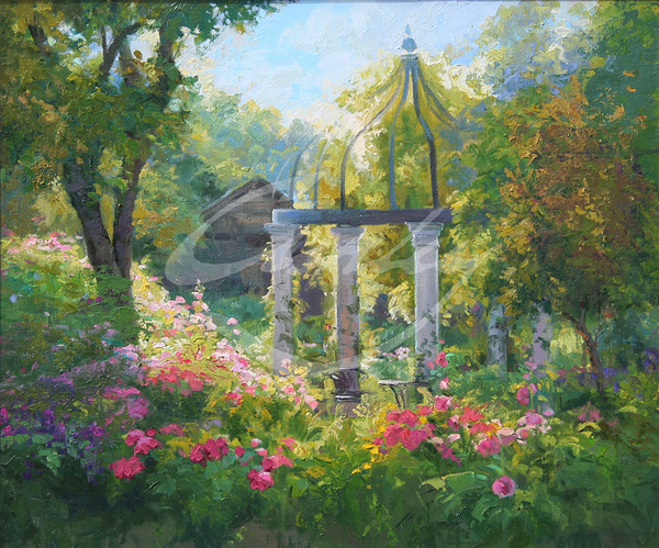 Linda Curley Christensen Inviting Garden