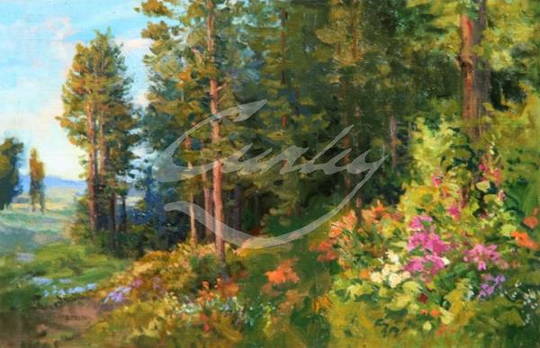 Linda Curley Christensen Ukraine Forest and Flowers