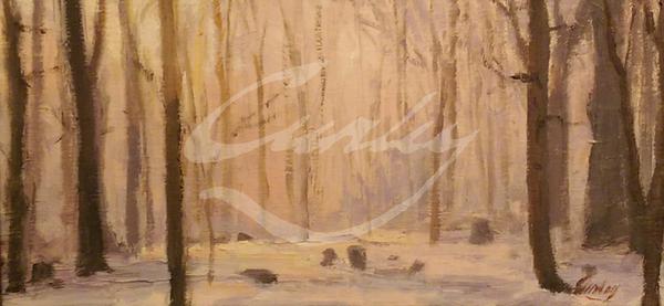 Linda Curley Christensen Hillside Trees