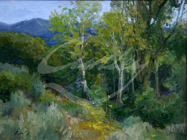 Linda Curley Christensen Cottonwood and Rabbit Brush