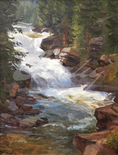Linda Curley Christensen Provo River Upper Falls #1