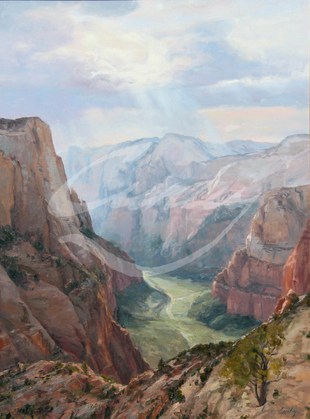 Linda Curley Christensen Zions Canyon Into the Light