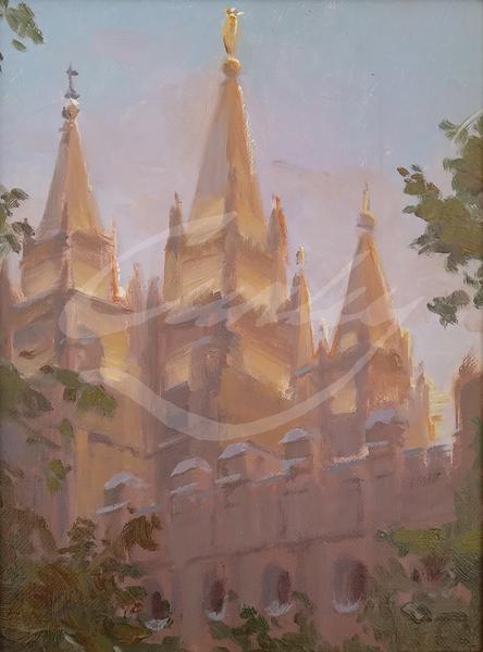 Linda Curley Christensen Look Up - Salt Lake Temple