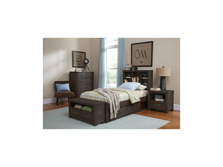 Highlands Twin Bookcase Bed (Espresso)