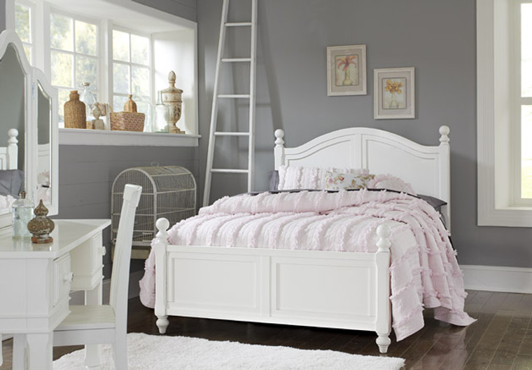Hamptons Full Arched Bed (White)