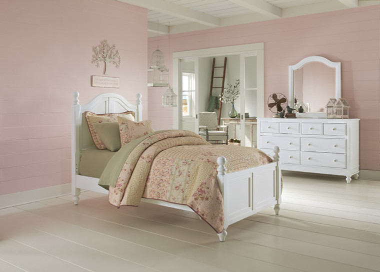 Hamptons Twin Arched Bed (White)