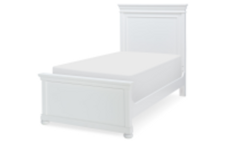 Tranquility Twin Panel Bed (White)