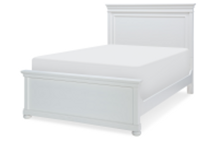 Tranquility Full Panel Bed (White)
