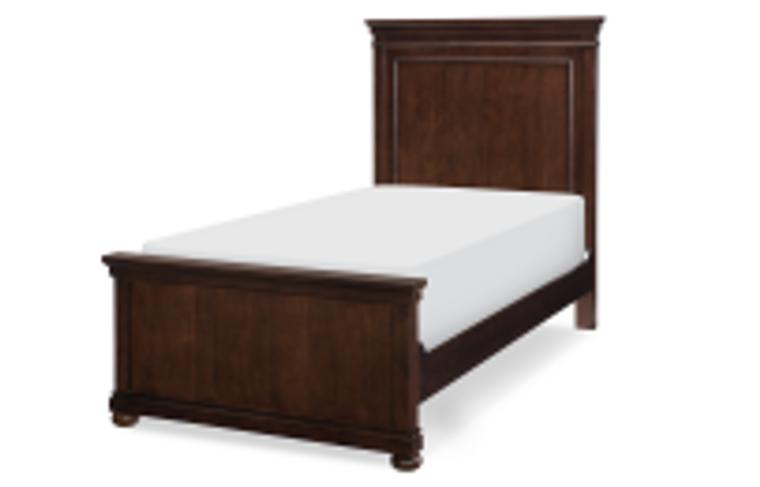 Canterbury Twin Panel Bed (Warm Cherry)