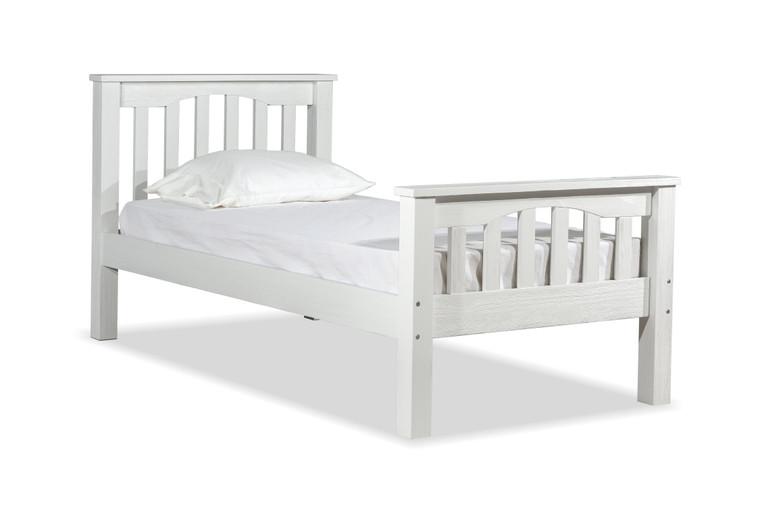 Boulder Twin Slatted Bed (White)