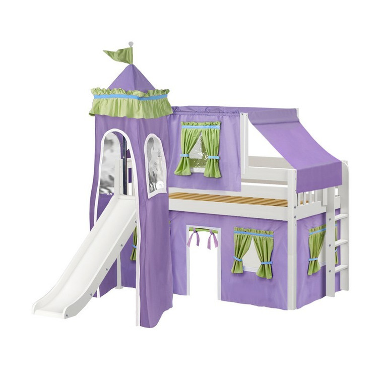 Maxtrix Twin Low Loft Castle Bed